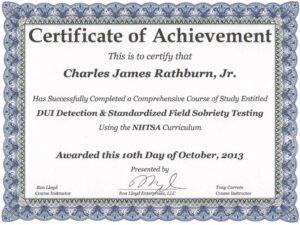 Corroto SFST certificate, October 2013