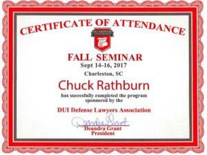 DUIDLA fall certificate