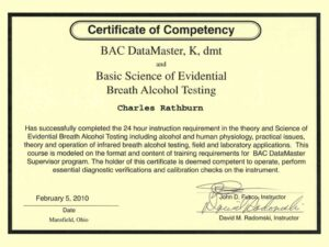 NPAS certificate