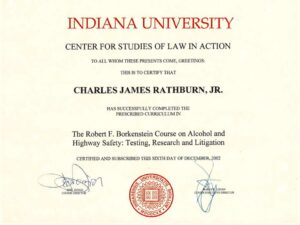 indiana university certificate
