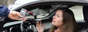 Driver refusing to take a breathalyzer test